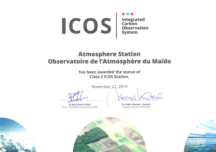 Official ICOS label award for Maïdo